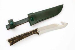 Jagdmesser von Watlher Die Stainless Steel Klinge mit Reißhaken, linksseitig Firmierung,