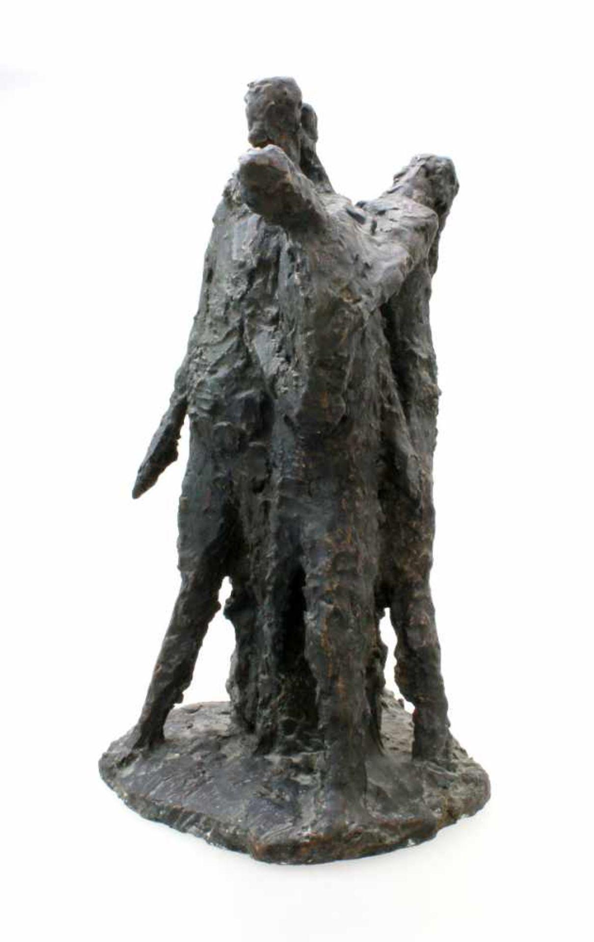 """Expressionistische Skulptur - """"4 Männer"""" - Markus Delago (*1964) Schwere, große Figurengruppe im - Bild 4 aus 6"""