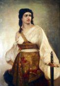 """""""Judith mit dem Haupt des Holofernes"""" - nach August Riedel (1799-1883) Öl auf Leinwand,"""
