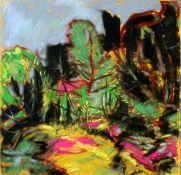 """""""Waldlichtung"""" - Lothar Malskat (1913-1988) Pastell auf Papier, expressionistische Walddarstellung"""