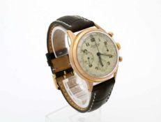 Armbanduhr Breitling Premier Chronograph um 1940 17-steiniges Handaufzugswerk, Gehäuse Roségold 750,