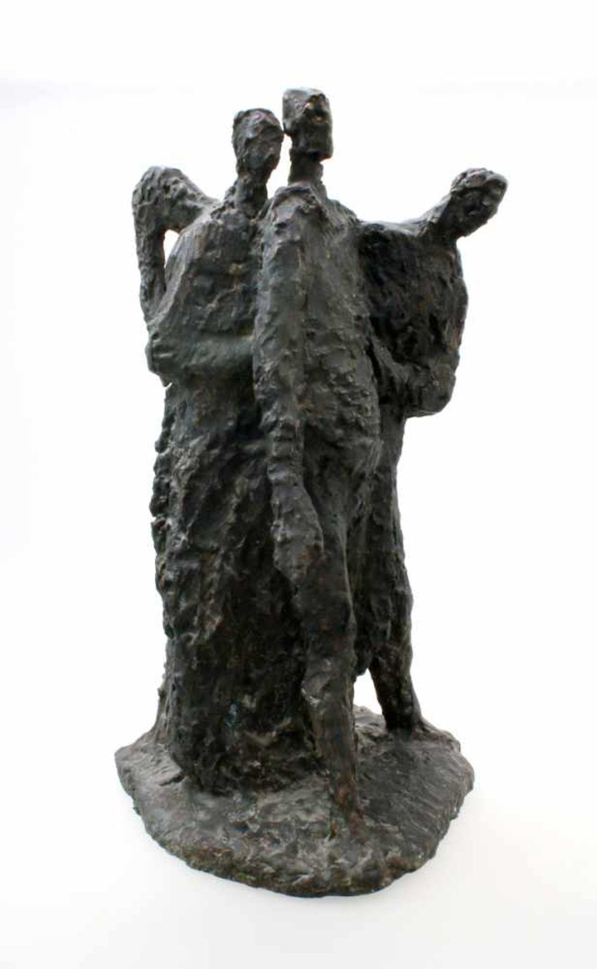 """Expressionistische Skulptur - """"4 Männer"""" - Markus Delago (*1964) Schwere, große Figurengruppe im"""