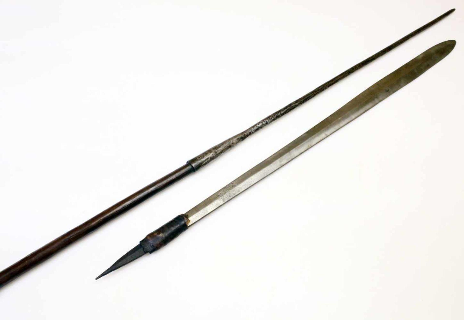 """Kenia / Tansania - Schwert """"Seme"""" und """"Löwenspeer"""" der Massai um 1900Das Schwert mit - Bild 3 aus 3"""