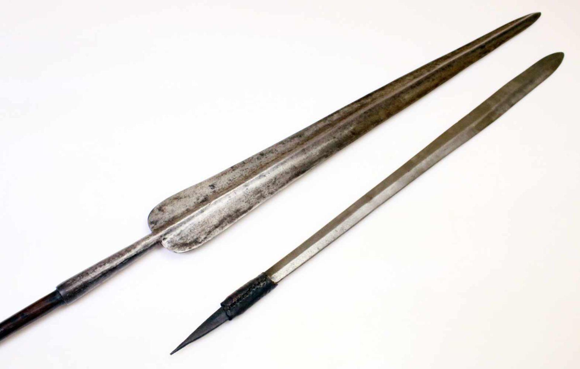"""Kenia / Tansania - Schwert """"Seme"""" und """"Löwenspeer"""" der Massai um 1900Das Schwert mit - Bild 2 aus 3"""