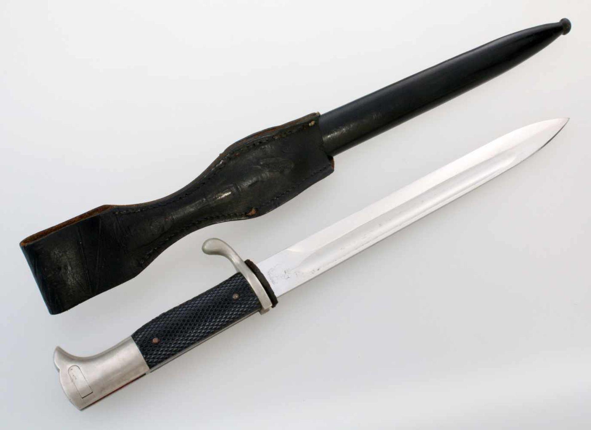 Deutsches Reich - Extra-Seitengewehr 84/98Aufpflanzbares Eigentumsstück. Blanke, vernickelte, - Bild 2 aus 5