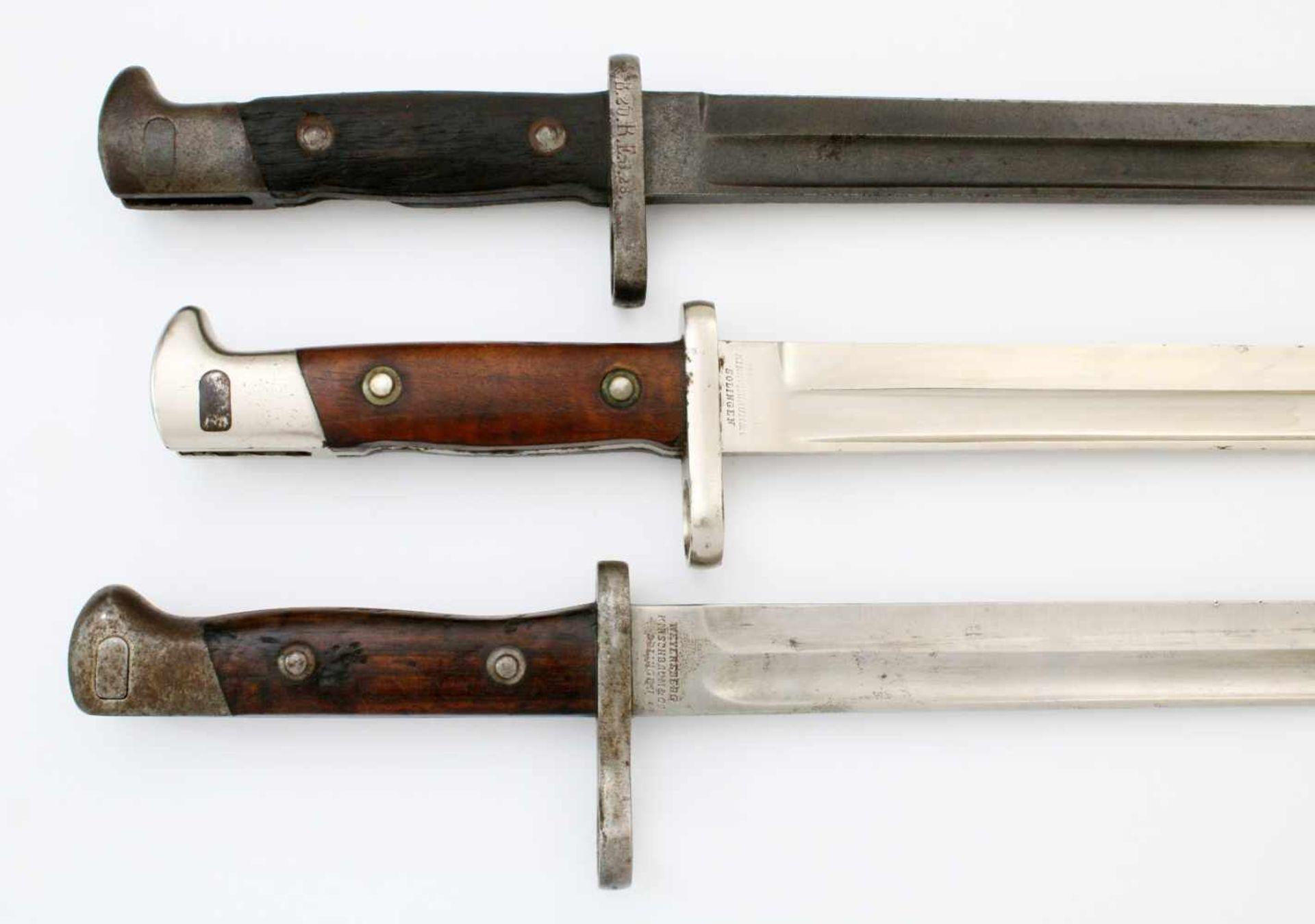 """Deutsches Reich / Chile - 3 Bajonette1x Seitengewehr Chile Mauser M1895, Herst. """"Weyersberg & - Bild 4 aus 4"""