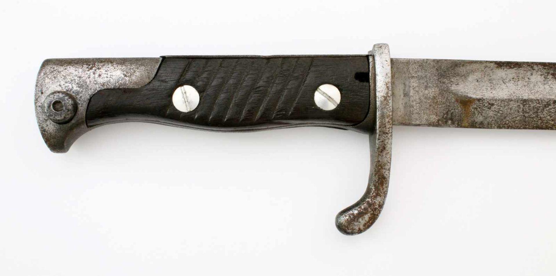 """1. Weltkrieg - Seitengewehr 98/05 n.A.Gekehlte Rückenklinge, Herst. """"Alex Coppel Solingen"""", - Bild 3 aus 4"""