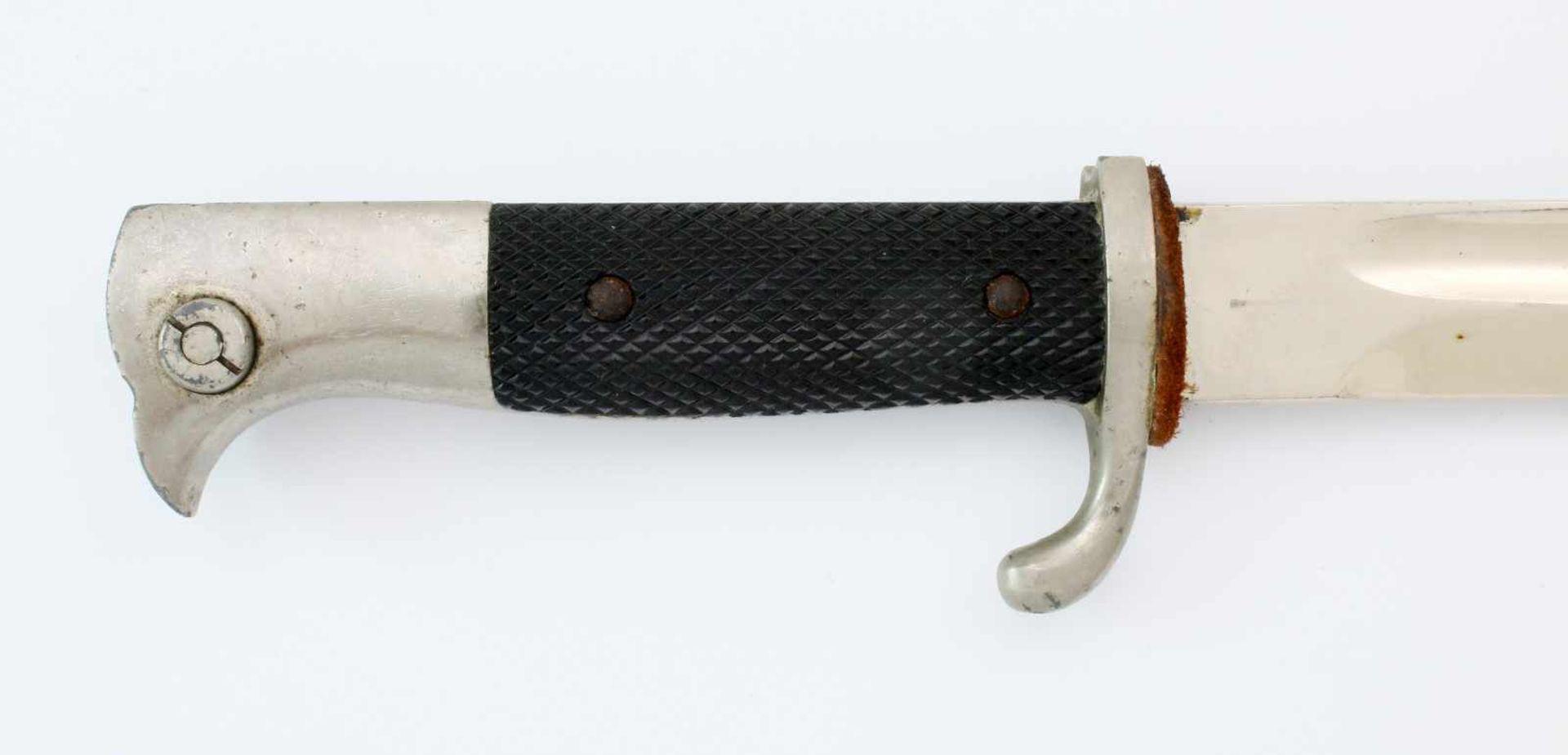 Deutsches Reich - Extra-Seitengewehr 84/98Aufpflanzbares Eigentumsstück. Blanke, vernickelte, - Bild 3 aus 5