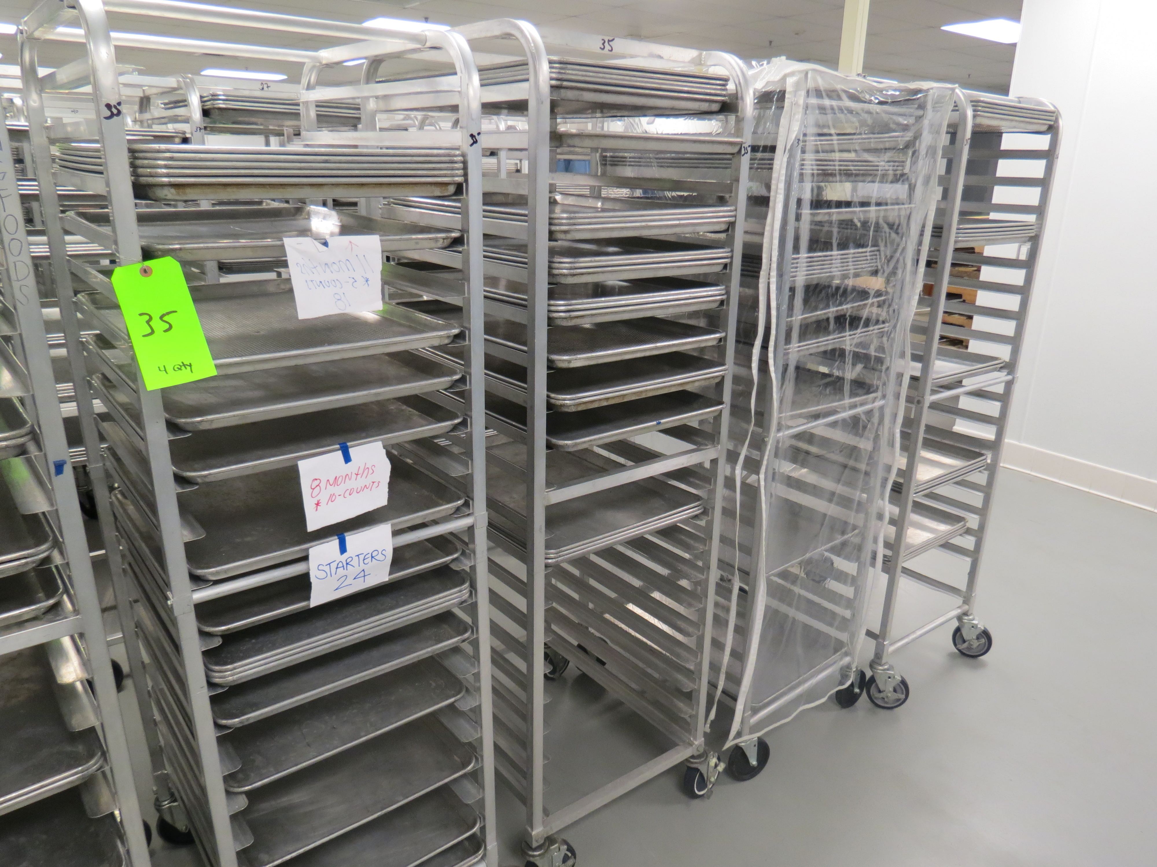 Lot 35 - MOBILE BAKER RACKS WITH 18 TRAYS