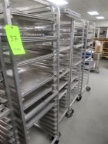 Lot 37 - MOBILE BAKER RACKS WITH 18 TRAYS