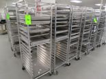 Lot 34 - MOBILE BAKER RACKS WITH 18 TRAYS