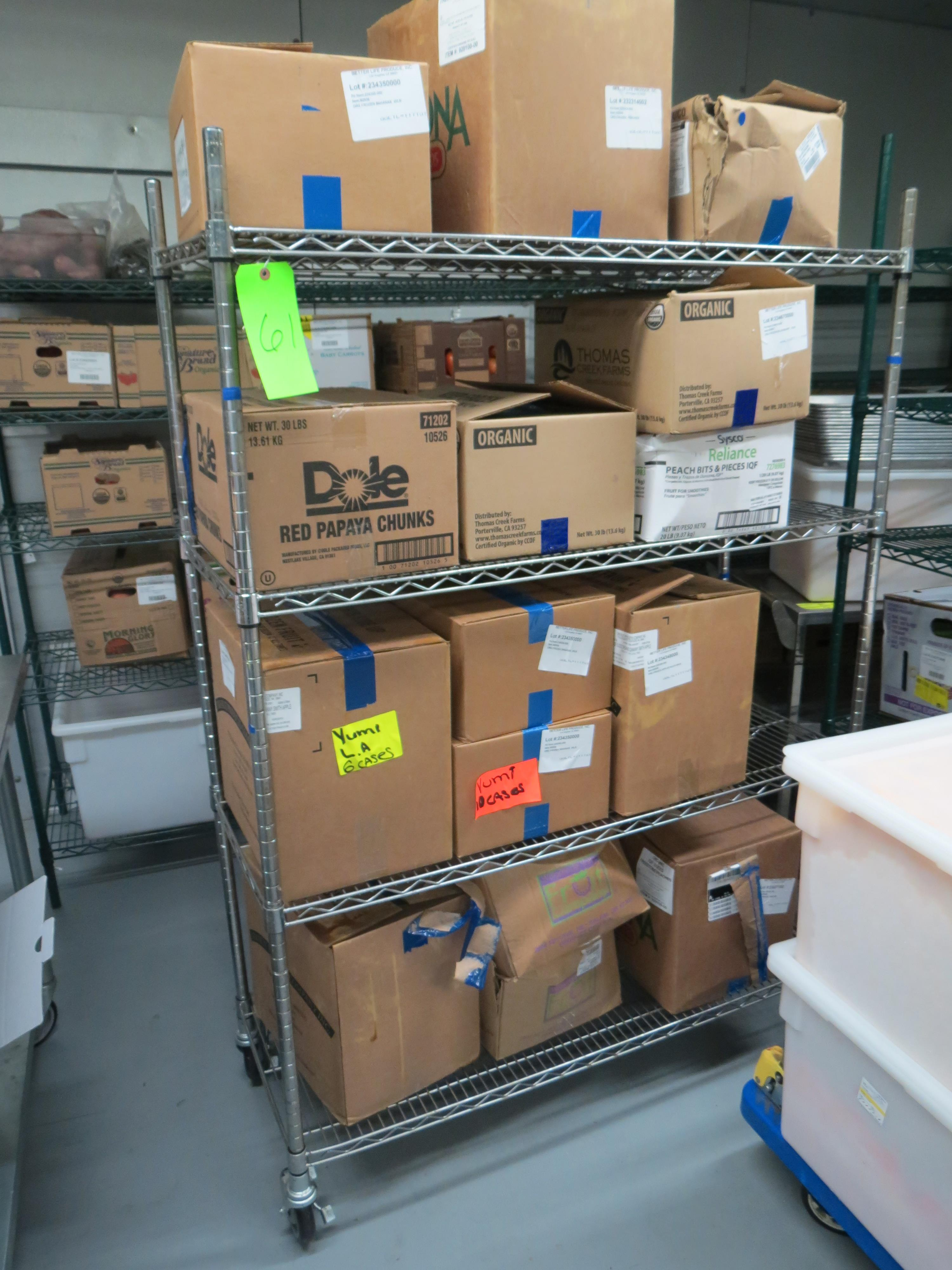 Lot 61 - CHROME MOBILE WIRE RACK NO CONTENTS