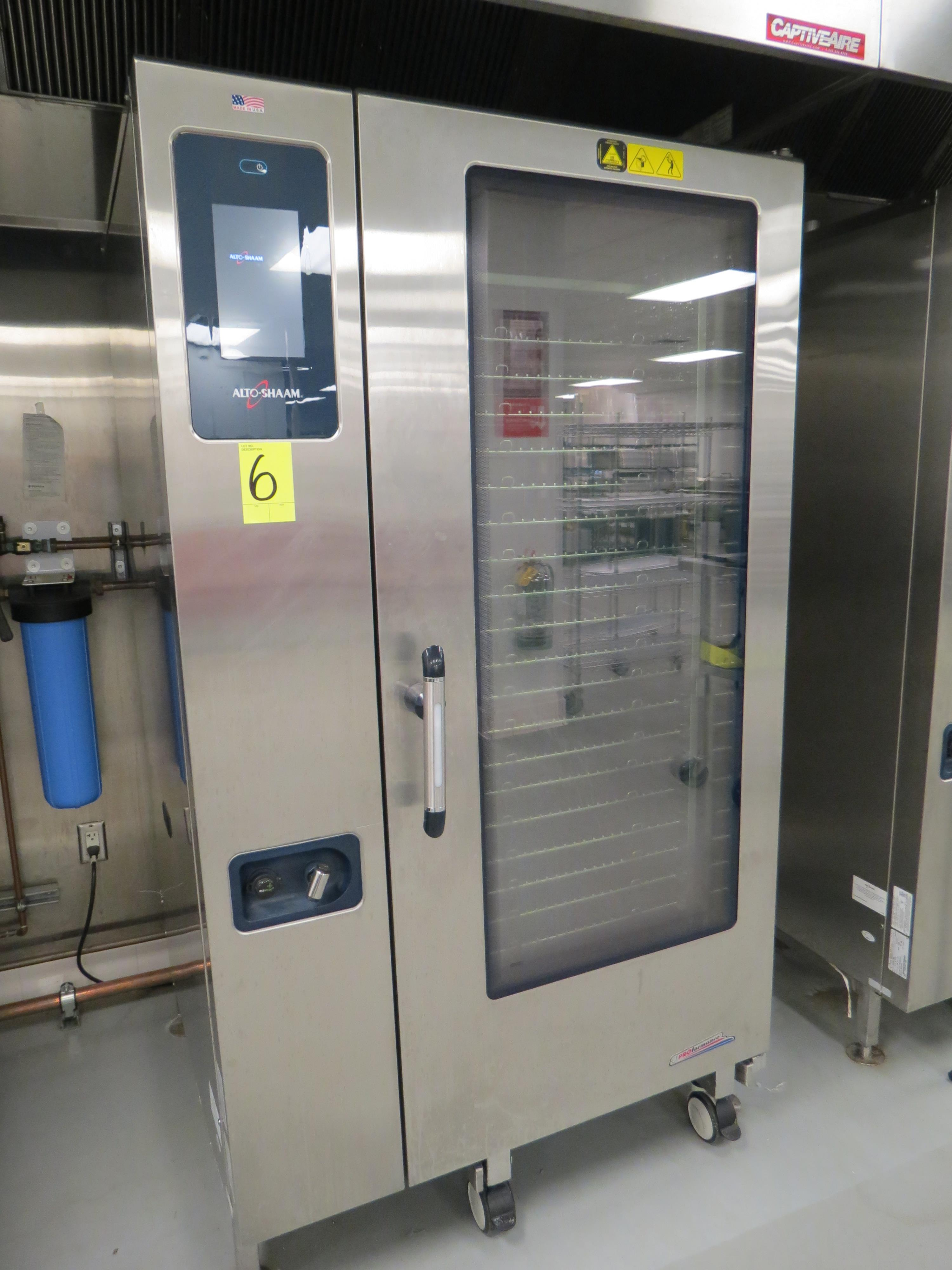 Lot 6 - ALTO-SHAAM MDL. CTP20-20G COMBI OVEN, SN: 1836599-000, W/ ROLLING RACK