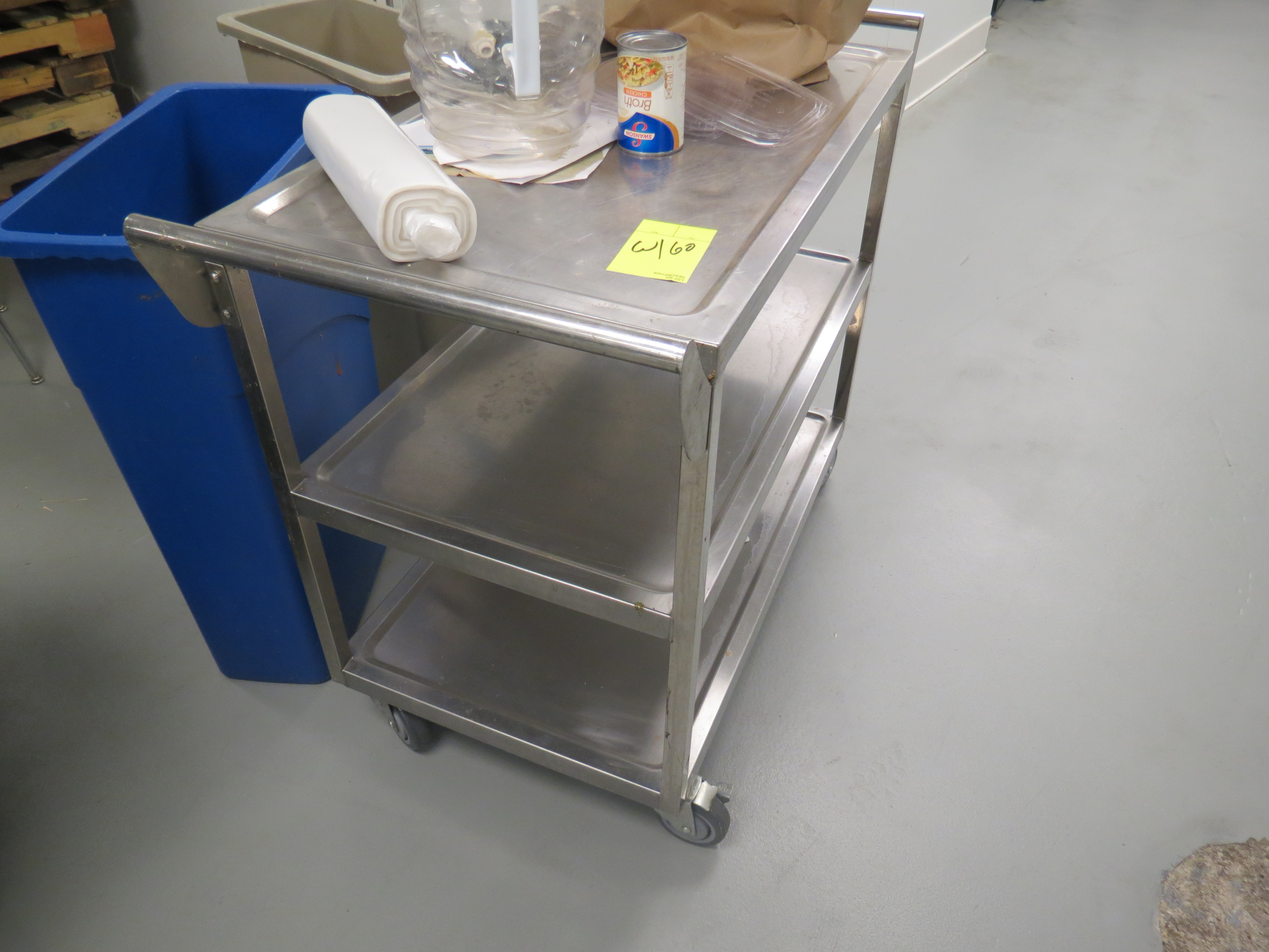 Lot 60 - STAINLESS STEEL CARTS NO CONTENTS