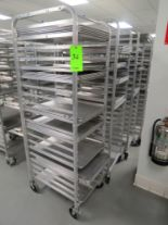 Lot 36 - MOBILE BAKER RACKS WITH 18 TRAYS