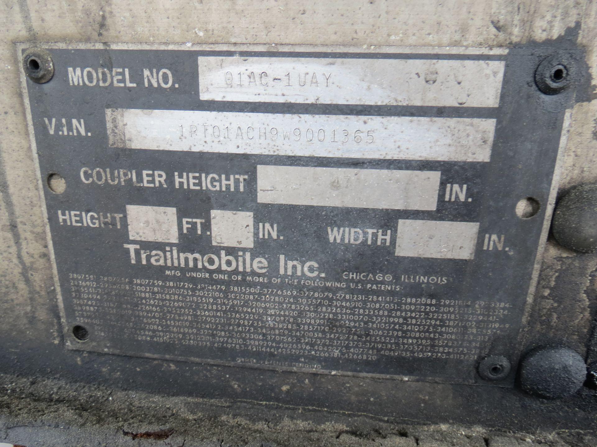Lot 36 - 1997 Trailmobile 53' Thermo King Smart Reefer #3 Trailer, Model - 01AC-1UAY, VIN: 1