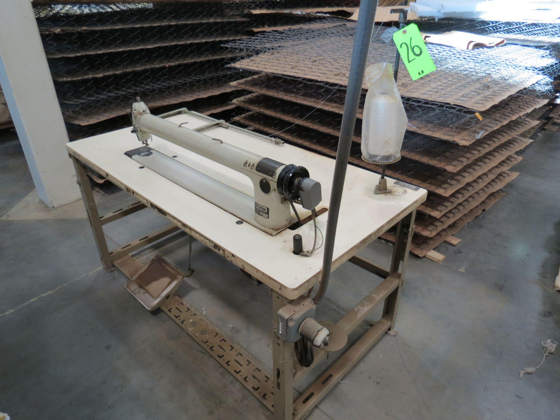 Porter International POQ-30Long-arm Sewing Machine, 110V, SN:S2537 - Image 2 of 2