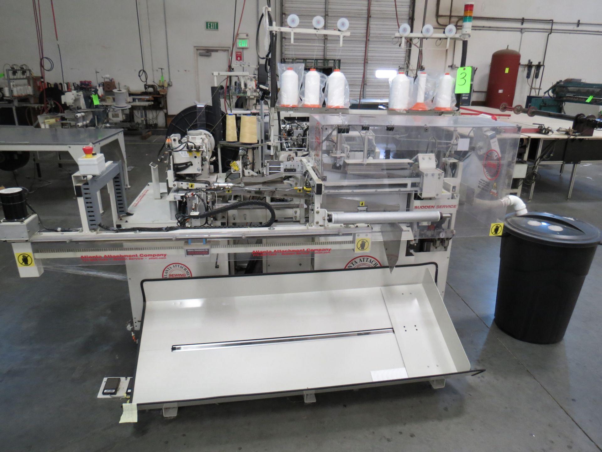 Atlanta Attachment Company, 4300BBorder/Attach Handles Sewing Machine, 220V, SN:209227071609, Juki - Image 2 of 11