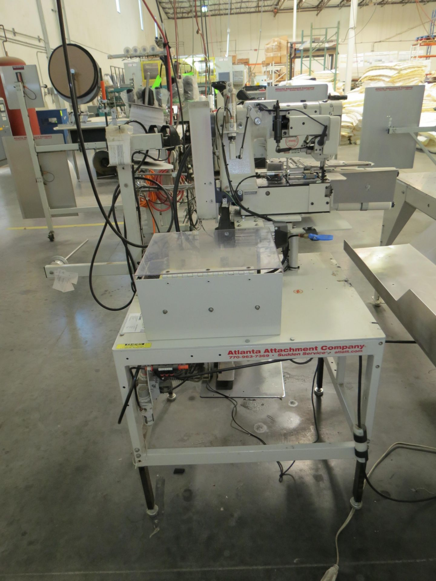 Atlanta Attachment Company 1339HFSHalf-Cap Sewing Machine, SN:209226071617, 220V, AAC 300UX6, ( - Image 4 of 5