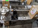 Lot 23 - 3 Compartment Stainless Steel Sink with 2 Run-offs. - Custom Built - Approx Cost New $3400.00