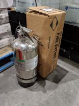 Lot 57 - 2 Stainless Steel Fire Extinguishers