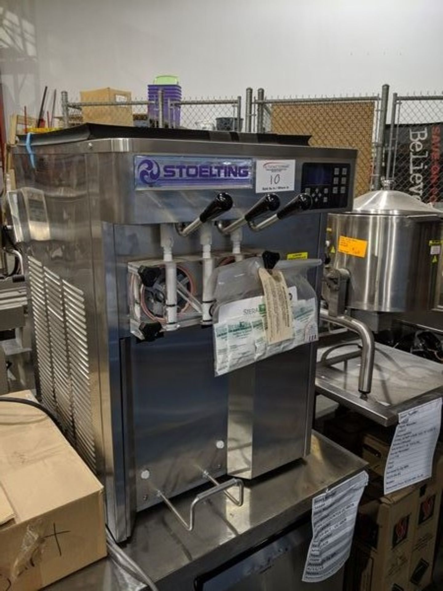 Lot 10 - Unused Stoelting F131 Countertop Soft Serve Yogurt Machine, Single Phase, Air Cooled