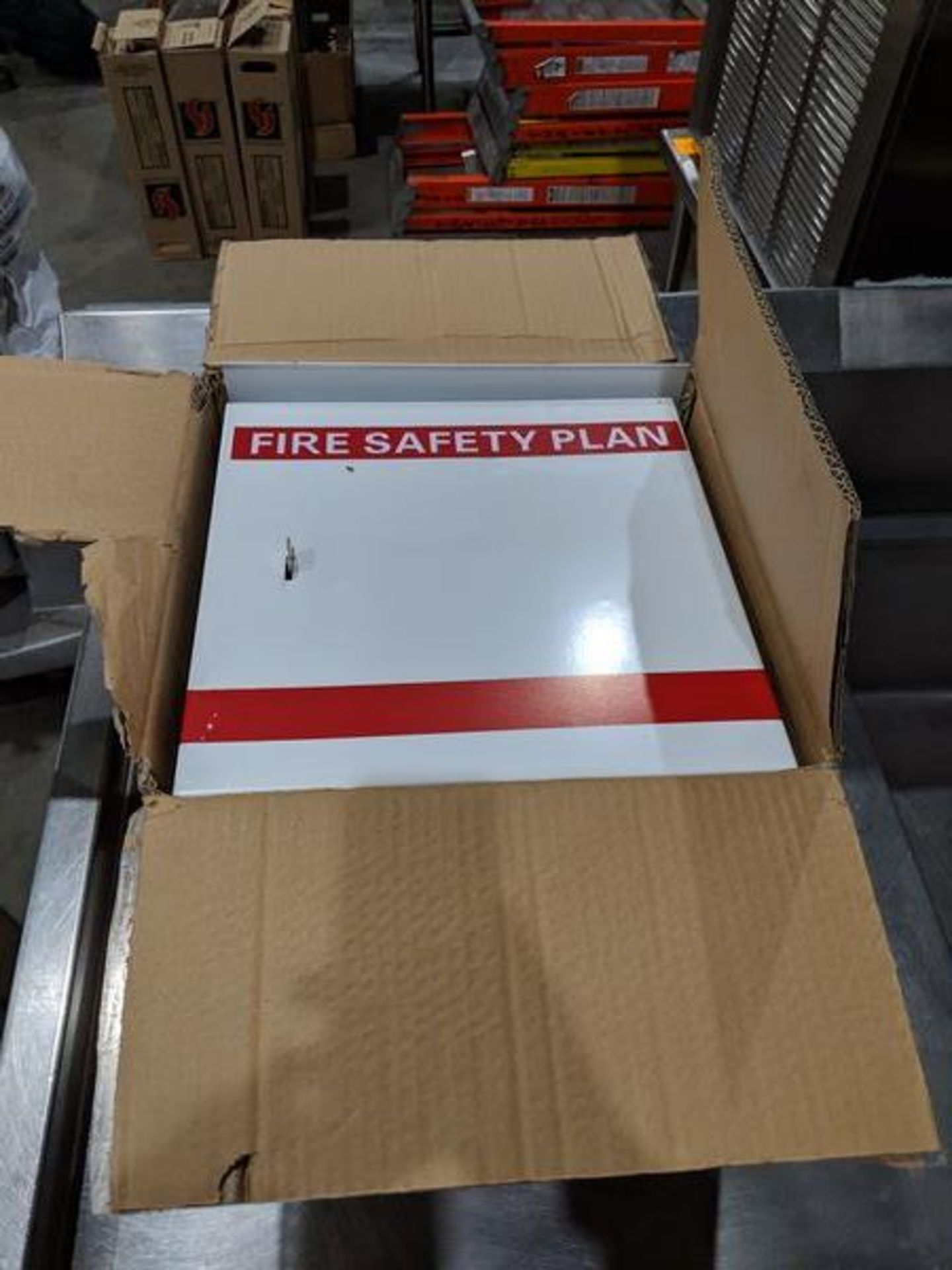Lot 6 - Fire Safety Plan Box and Set of Casters