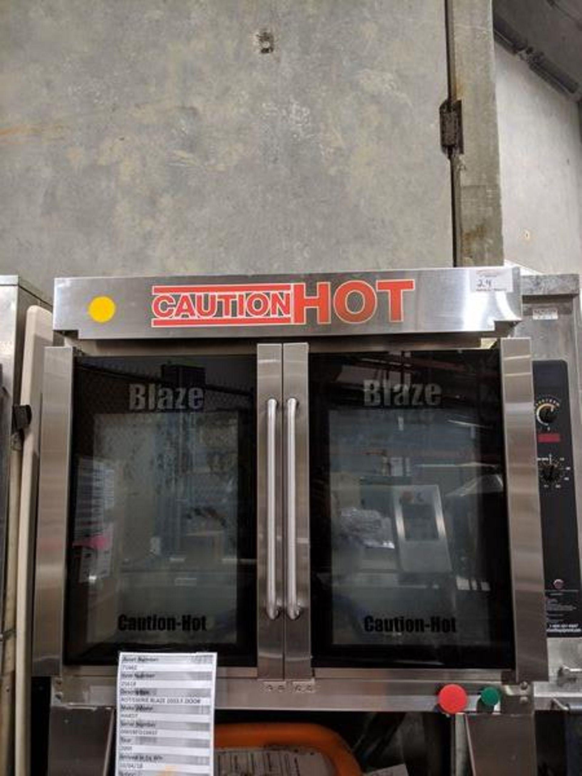 Lot 24 - Hardt Blaze 1033 Gas Chicken Rotisserie. Complete with Skewers and Orange Wash Tub