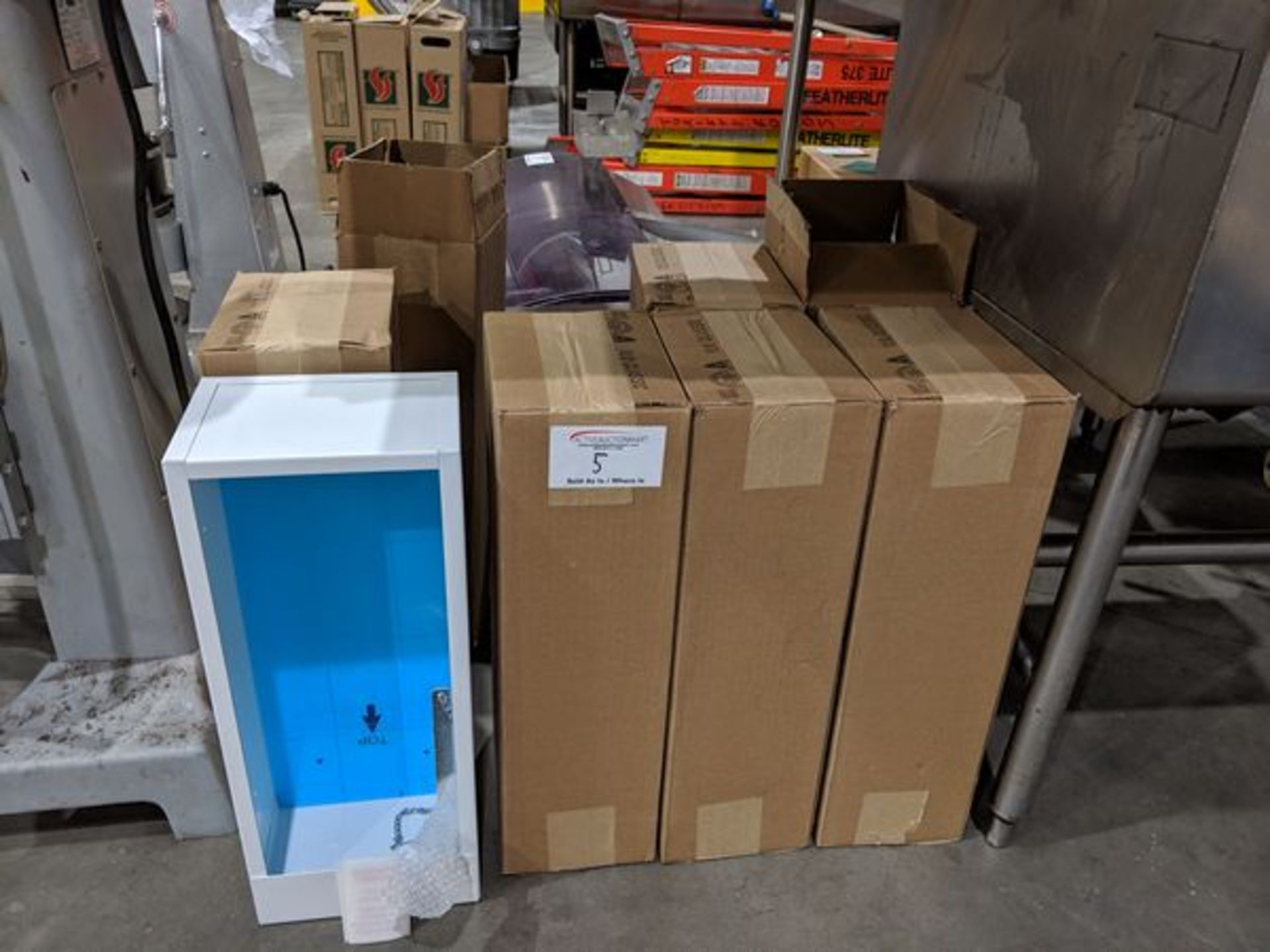 Lot 5 - 7 New Fire Extinguisher Cabinets
