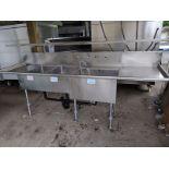 Lot 84 - Custom Stainless Steel Triple Sink