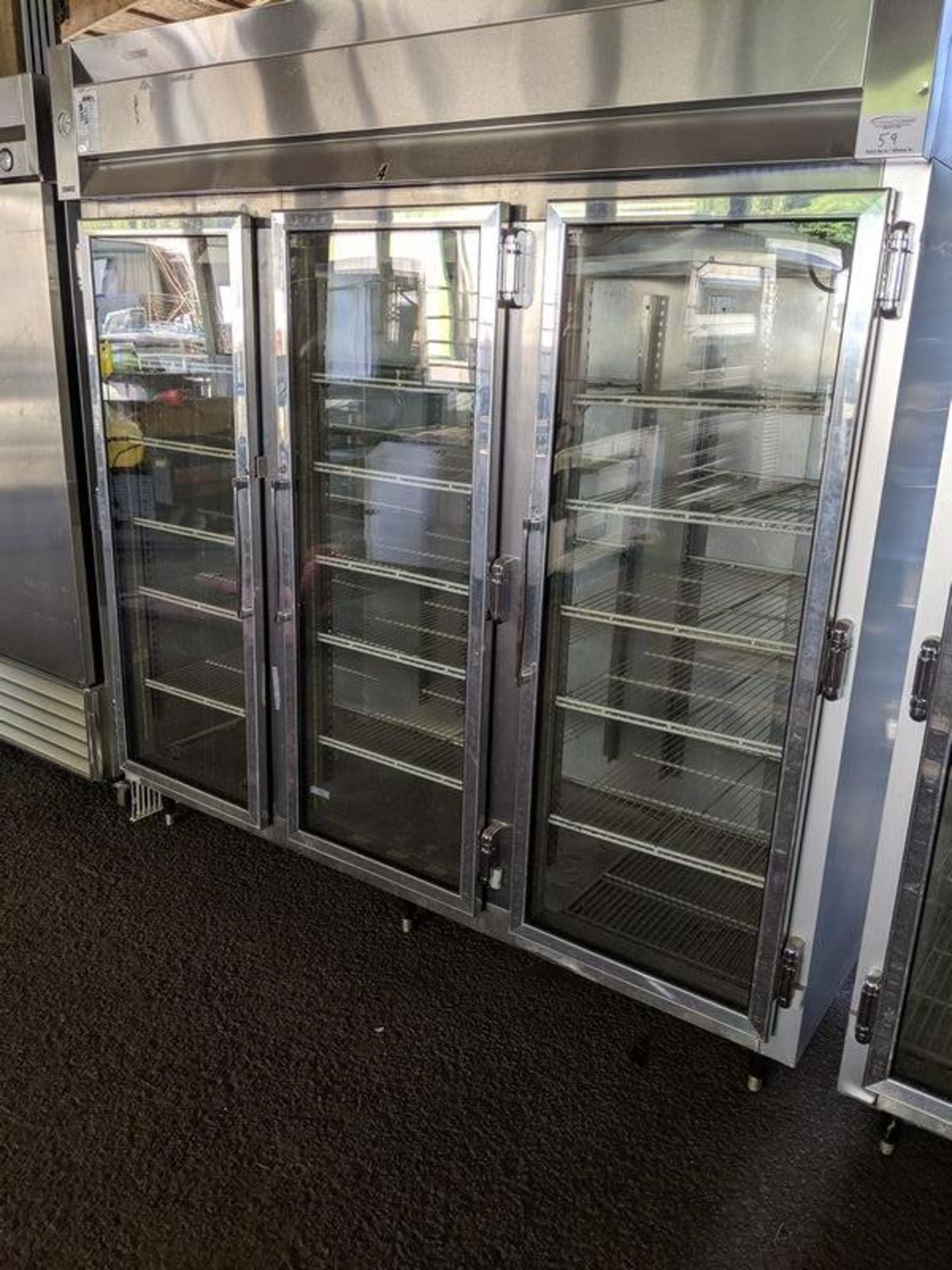 Lot 59 - McCall 3 Door Display Freezer Single Phase Remote Compressor
