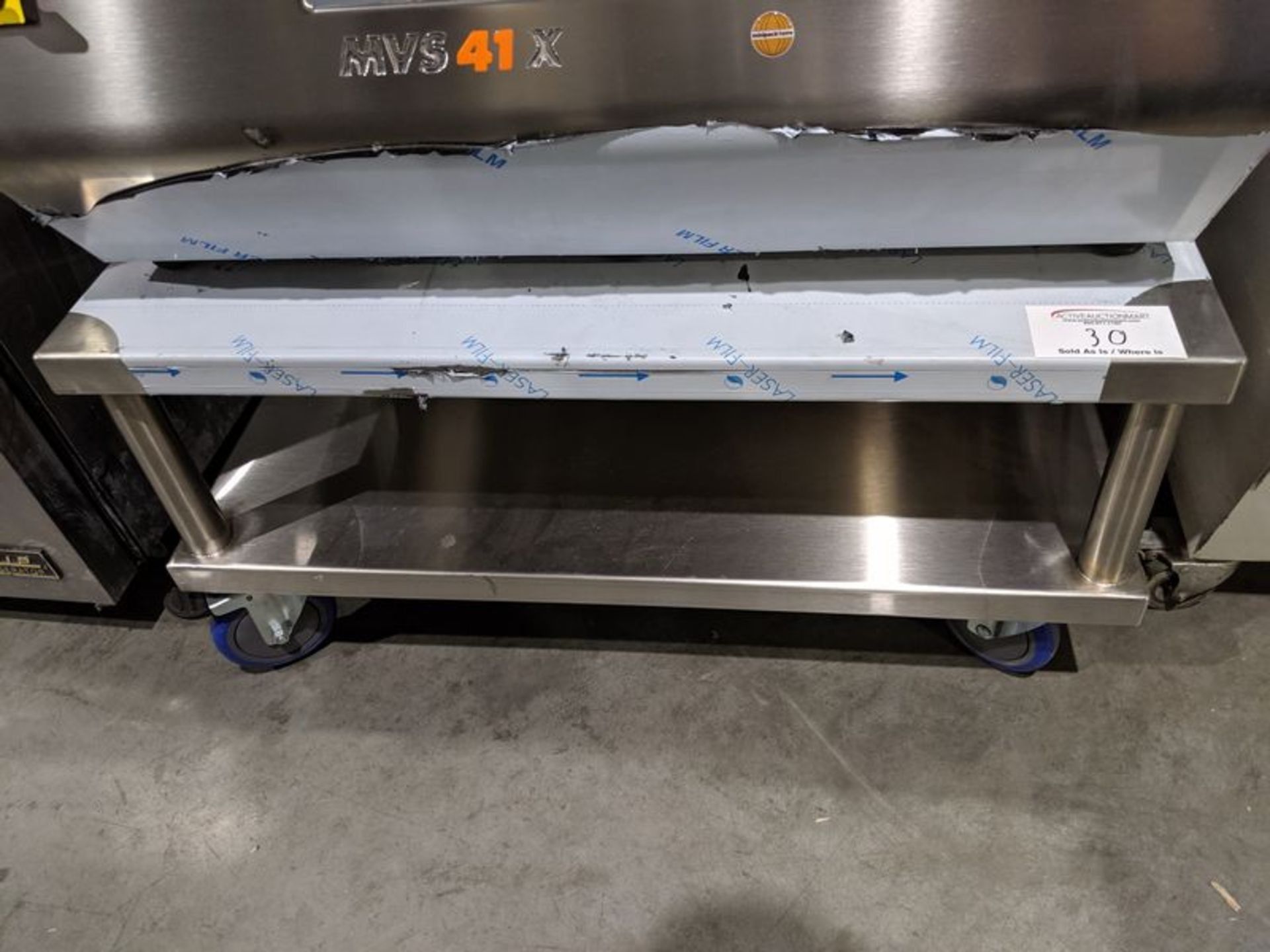 Lot 30 - Unused Custom Built Stainless Steel Stand for Vac Pac