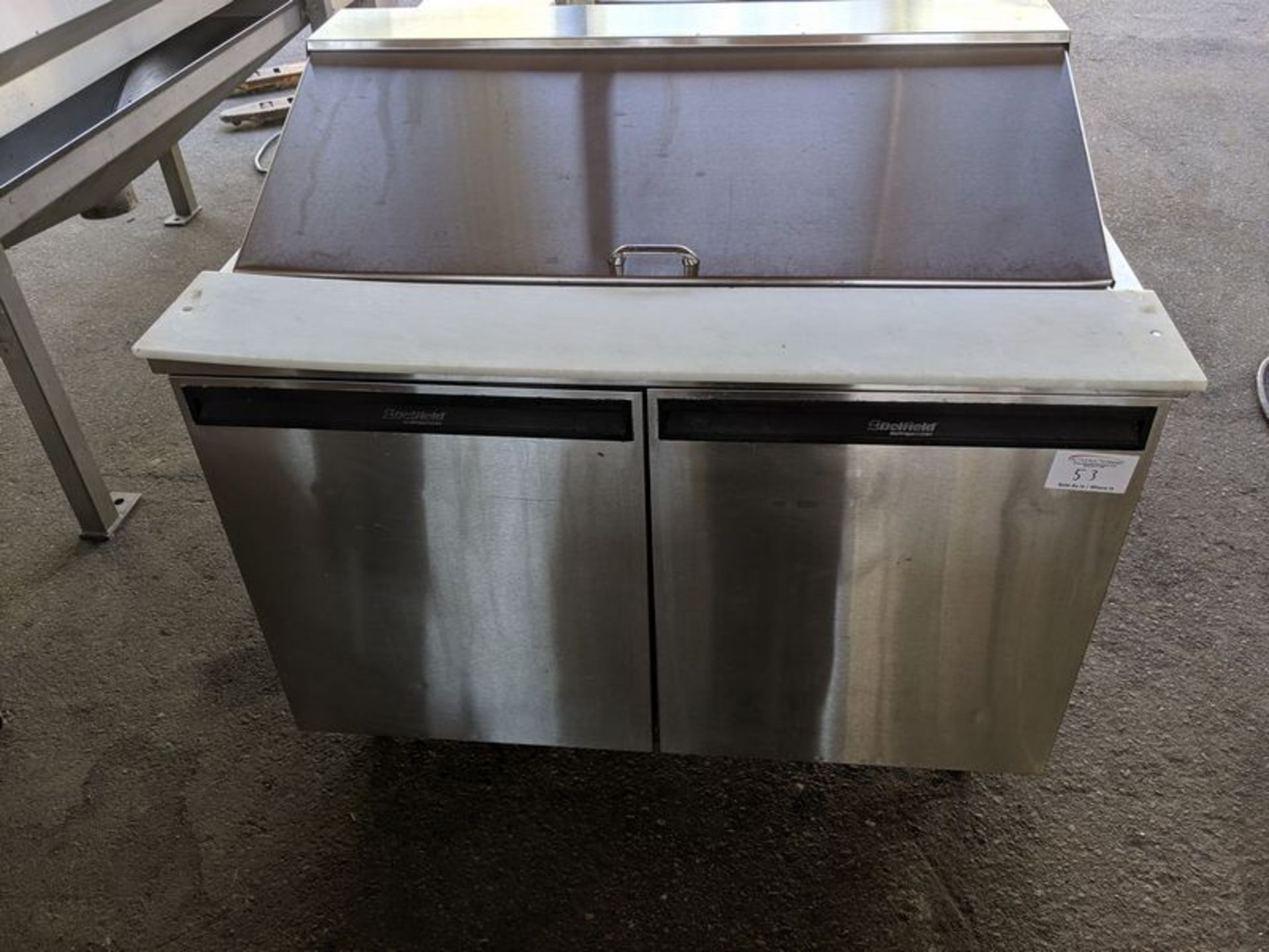 "Lot 53 - Delfield 48"" Refrigerated Prep Table"