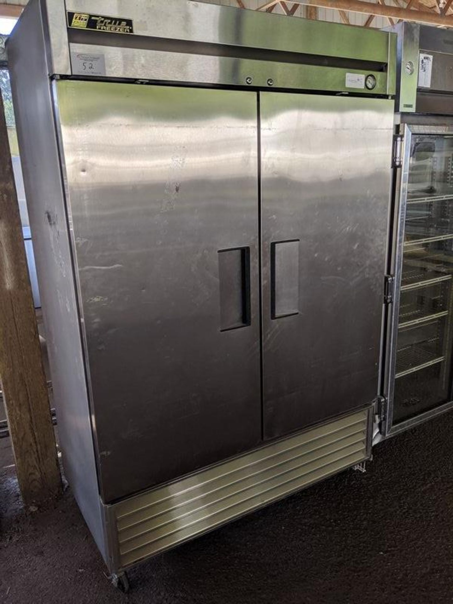 Lot 52 - True 2 Door Stainless Steel Freezer