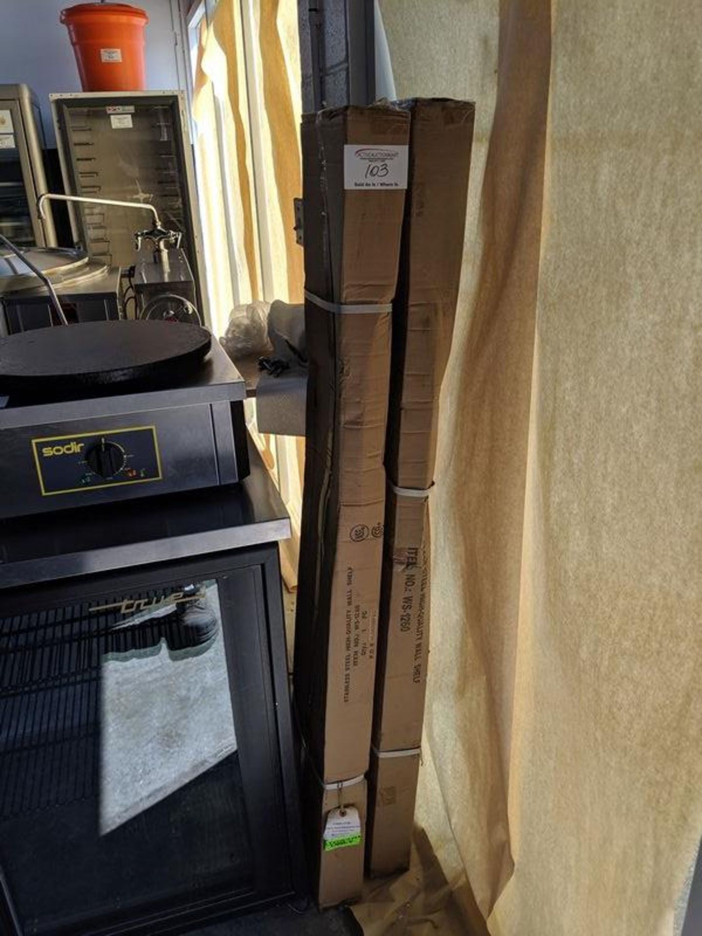 """Lot 103 - 2 New 60"""" Wall Shelves in Boxes"""