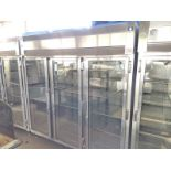 McCall 3 Door Display Freezer with a Remote Heavy Duty Air Cooled Compressor