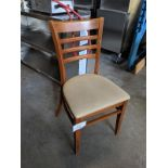 15 Bentwood Dining Chairs with Padded Seats - Note Matches lot 23 and 28 - Price Each times 15