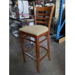 10 Bentwood Bar Stools with Padded Seats - Price Each times 10