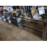 """8 ft x 15"""" Wide Custom Built 3 Tier Stainless Steel Servery Counter"""