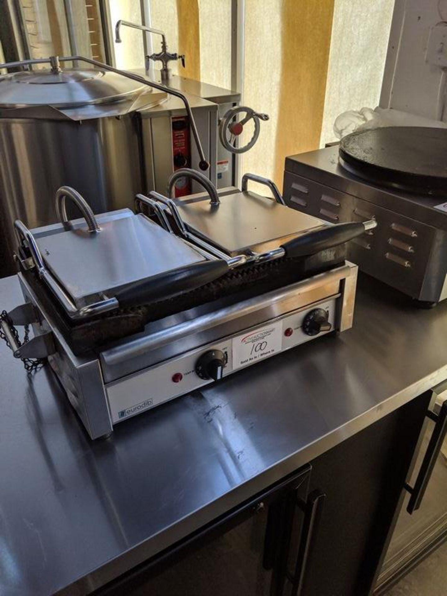 Lot 100 - Eurodib Twin Head Panini Grill