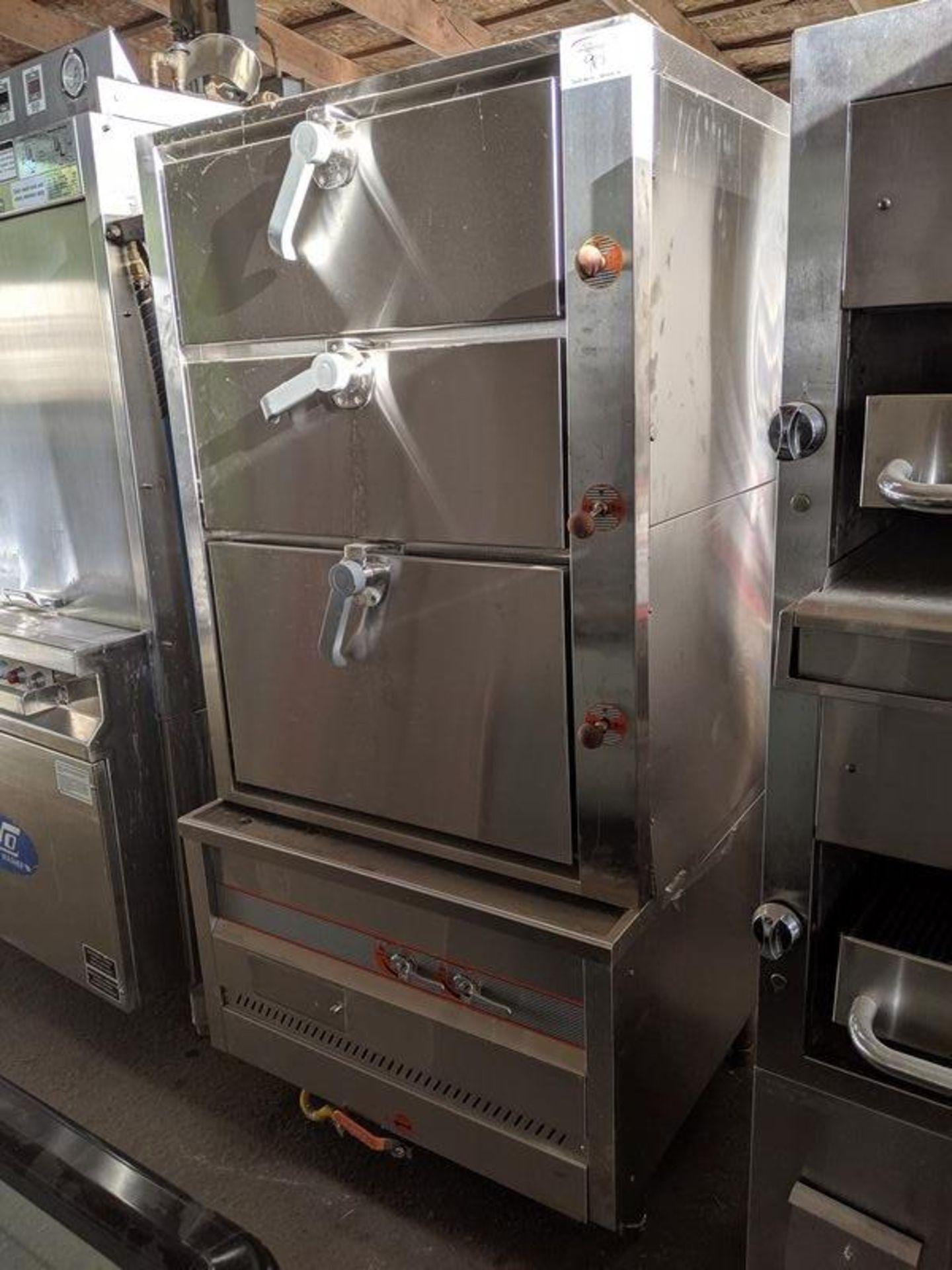 Lot 90 - 3 Door Chinese Steamer Oven