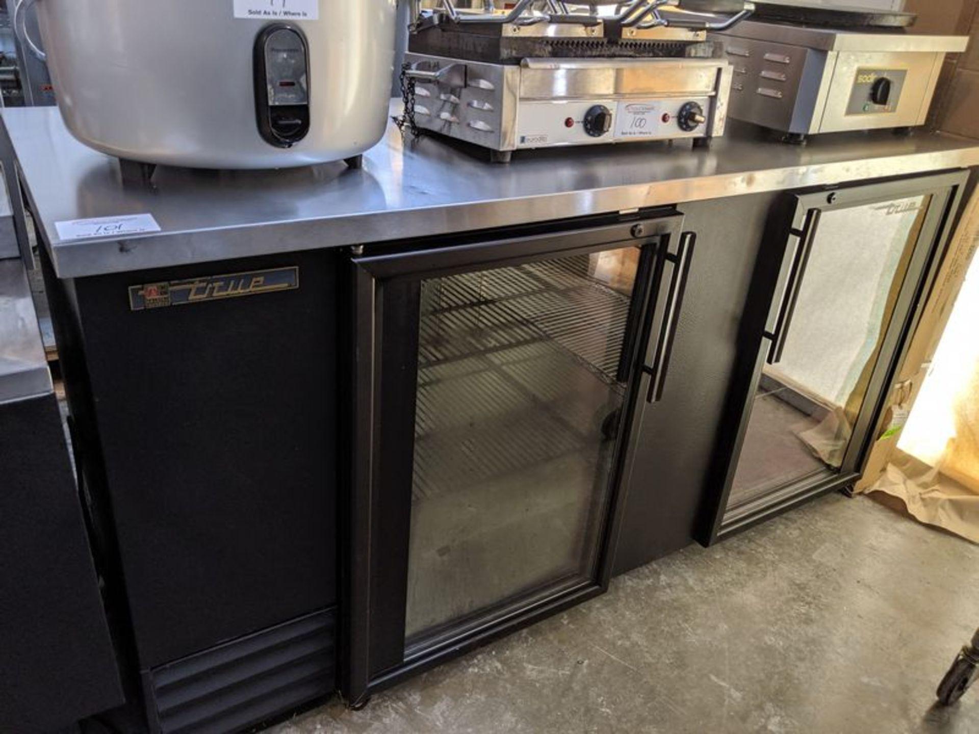 """Lot 101 - 69"""" True 2 Door Refrigerated Back Bar"""