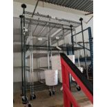 3 Tier Green Powder Coated Metro Trolley, On Casters - 60x18 Inch