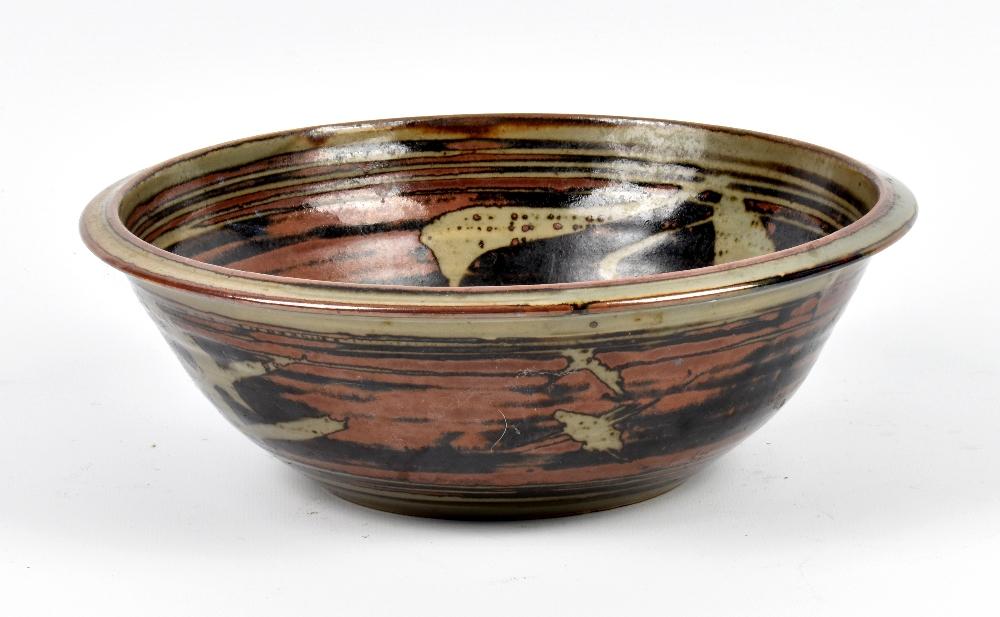 Lot 94 - HARRY DAVIS (1910-1986) & MAY DAVIS (1914-1998) for Crowan Pottery; a stoneware bowl with wax resist