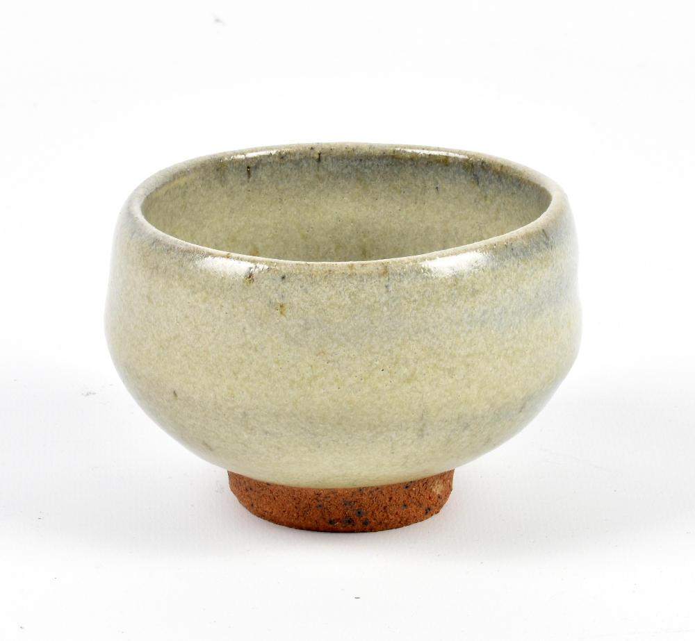 Lot 127 - WILLIAM MARSHALL (1923-2007) for Leach Pottery; a small stoneware footed bowl covered in blue/grey