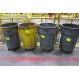 Lot 266 - (4) COMMERCIAL GARBAGE CANS ON WHEELS