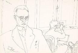 Wilhelm Robert Huth (1890 Erfurt - 1977 Amrum) Selbst im Atelier (mit Martel Schwichtenberg).