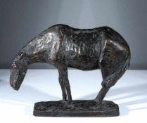 Jo Jastram (1928 Rostock - 2011 Ribnitz-Damgarten)Darßer Pferd im Wind.Bronze. 1962. 166 x 230 x 80