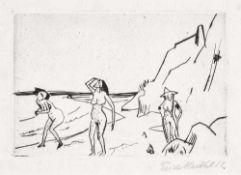 Erich Heckel (1883 Döbeln - 1970 Radolfzell/Bodensee)Frauen am Strand (Hiddensee).