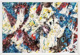 Hans Christoph (1901 - Dresden - 1992)Abstrakte Komposition.Mischtechnik auf Hartfaser. 1967/78.